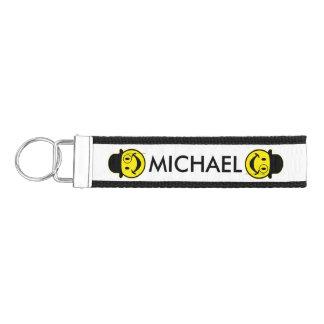 Sir Smiley yellow + your backg. & ideas Wrist Keychain