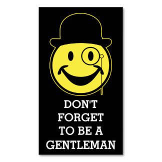 SIR Smiley yellow + your background & sayings Business Card Magnet