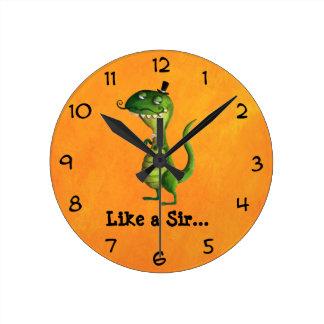 Sir T-rex con los bigotes Relojes