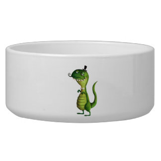 Sir T-rex with Moustaches Bowl