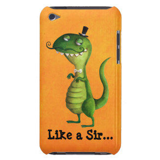 Sir T-rex with Moustaches Case-Mate iPod Touch Case