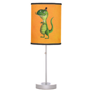 Sir T-rex with Moustaches Desk Lamp