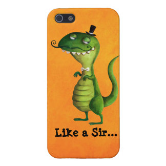 Sir T-rex with Moustaches iPhone SE/5/5s Case