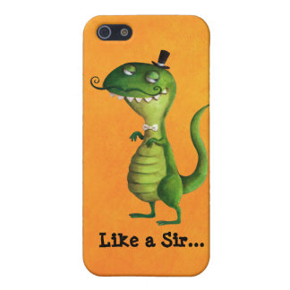 Sir T-rex with Moustaches iPhone SE/5/5s Cover