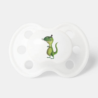 Sir T-rex with Moustaches Pacifier