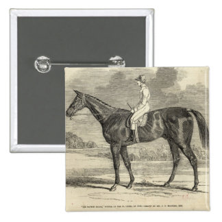 Sir Tatton Sykes', Winner of the St. Leger 2 Inch Square Button