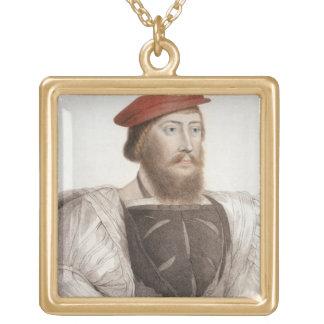 Sir Thomas Boleyn (1477-1539) grabado por Francesc Colgante Cuadrado