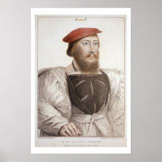 Sir Thomas Boleyn (1477-1539) grabado por Francesc Póster