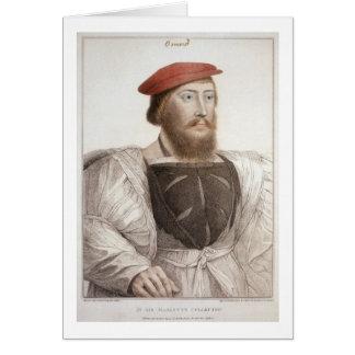 Sir Thomas Boleyn (1477-1539) grabado por Francesc Tarjeta De Felicitación