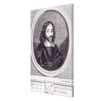 Sir Thomas Browne , engraved by Frederick Canvas Print