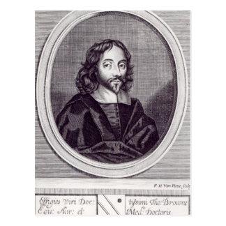 Sir Thomas Browne, grabado por Frederick Tarjeta Postal