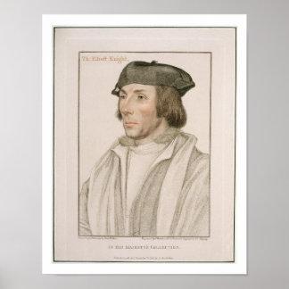 Sir Thomas Elyot (c.1490-1546) engraved by Frances Poster