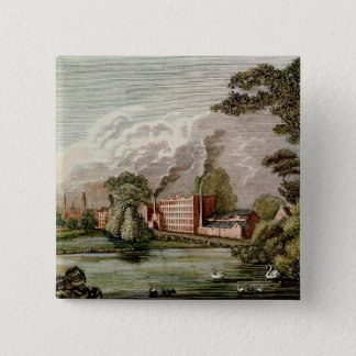 Sir Thomas Lombe's Silk Mill, Derby Pinback Button