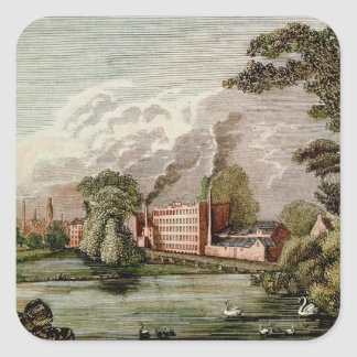 Sir Thomas Lombe's Silk Mill, Derby Square Sticker