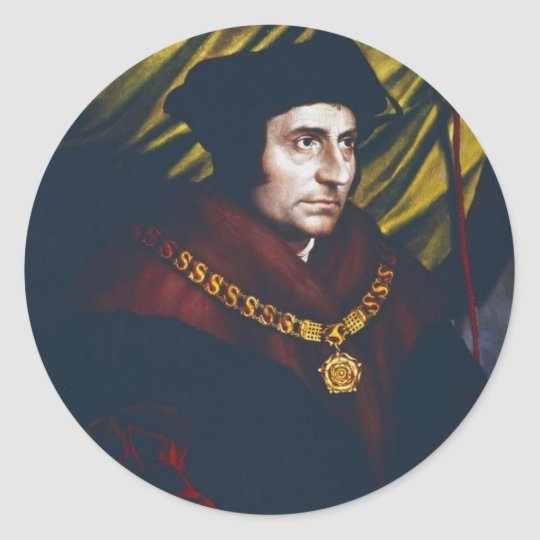 Sir Thomas More Classic Round Sticker