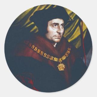 Sir Thomas More Pegatinas Redondas