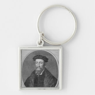 Sir Thomas Smyth, engraved by John Goldar, 1785 Silver-Colored Square Keychain