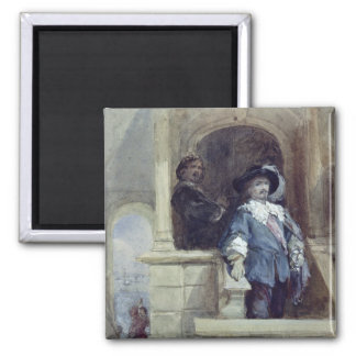 Sir Thomas Wentworth  and John 2 Inch Square Magnet