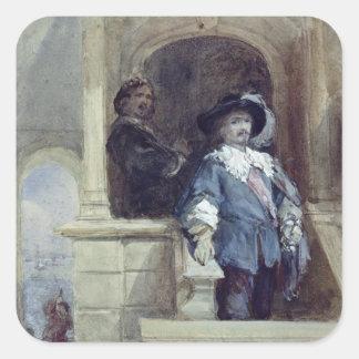 Sir Thomas Wentworth y Juan Pegatinas Cuadradases