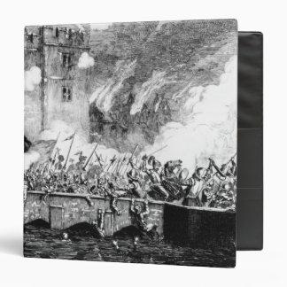 Sir Thomas Wyatt  Attacking the Byward Tower Vinyl Binder