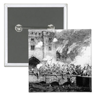 Sir Thomas Wyatt Attacking the Byward Tower Pinback Button