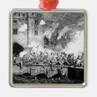 Sir Thomas Wyatt  Attacking the Byward Tower Metal Ornament