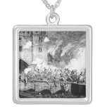 Sir Thomas Wyatt  Attacking the Byward Tower Square Pendant Necklace