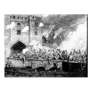 Sir Thomas Wyatt  Attacking the Byward Tower Postcard