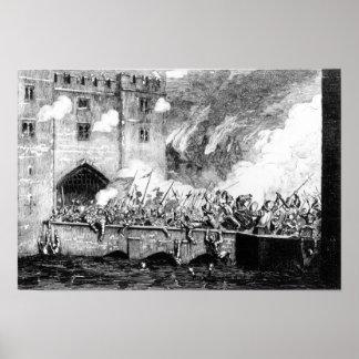 Sir Thomas Wyatt  Attacking the Byward Tower Poster