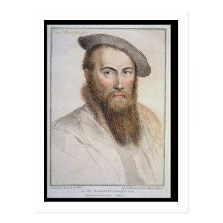 Sir Thomas Wyatt (c.1503-42) engraved by Francesco Postcard