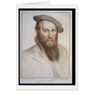 Sir Thomas Wyatt (c.1503-42) grabado por Francisco Tarjeta De Felicitación
