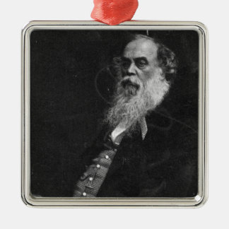 Sir Titus Salt, engraved by William Holl Square Metal Christmas Ornament