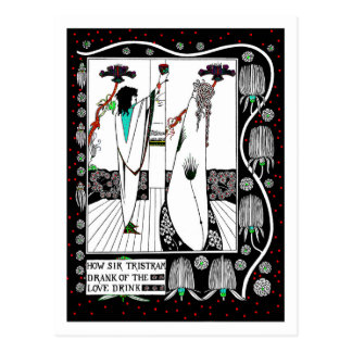 Sir Tristam Drink a Love Potion Postcard