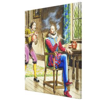 Sir Walter Raleigh (1554-1618) de 'píos en el th Impresión En Tela