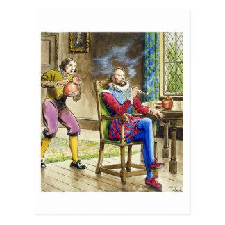 Sir Walter Raleigh (1554-1618) de 'píos en el th Postales