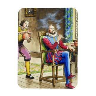 Sir Walter Raleigh (1554-1618) from 'Peeps into th Magnet