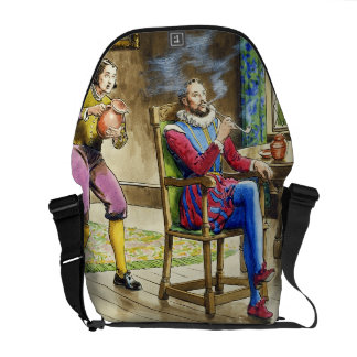 Sir Walter Raleigh (1554-1618) from 'Peeps into th Courier Bag