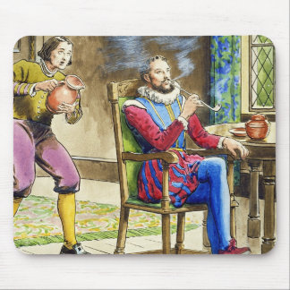 Sir Walter Raleigh (1554-1618) from 'Peeps into th Mouse Pad