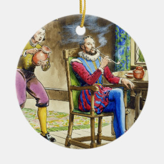Sir Walter Raleigh 1554-1618 from Peeps into th Ornaments