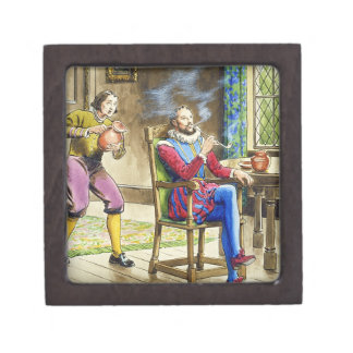 Sir Walter Raleigh (1554-1618) from 'Peeps into th Premium Jewelry Boxes