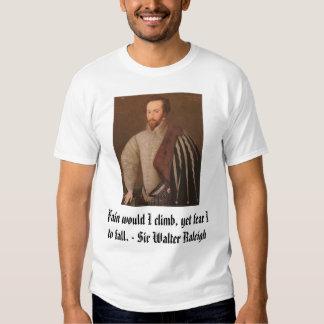 Sir Walter Raleigh, Fain yo sube, con todo fea… Playera