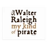 Sir Walter Raleigh: Mi clase de pirata Postales