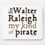 Sir Walter Raleigh: Mi clase de pirata Tapetes De Ratones