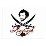 Sir Walter Raleigh Pirate Insignia Postcard