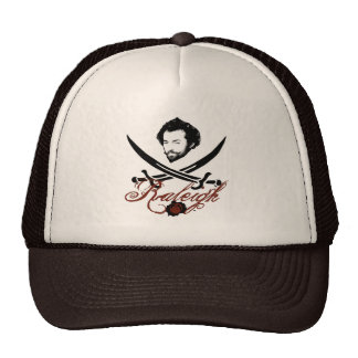 Sir Walter Raleigh Pirate Insignia Trucker Hat