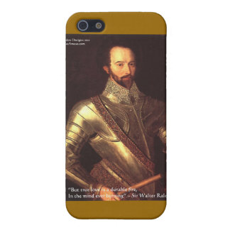 "Sir Walter Raleigh ""True Love"" Quote Gifts & Cards Cover For iPhone SE/5/5s"