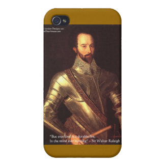 """Sir Walter Raleigh """"True Love"""" Quote Gifts & Cards iPhone 4/4S Cover"""