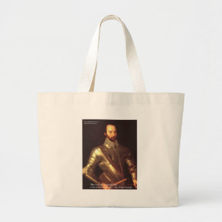 "Sir Walter Raleigh ""True Love"" Quote Gifts & Cards Large Tote Bag"