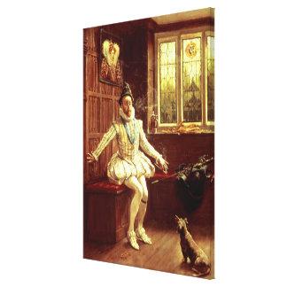 Sir Walter Raleigh's  First Smoke Canvas Print