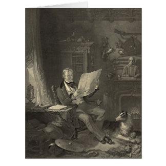Sir Walter Scott 1846 Tarjeta De Felicitación Grande